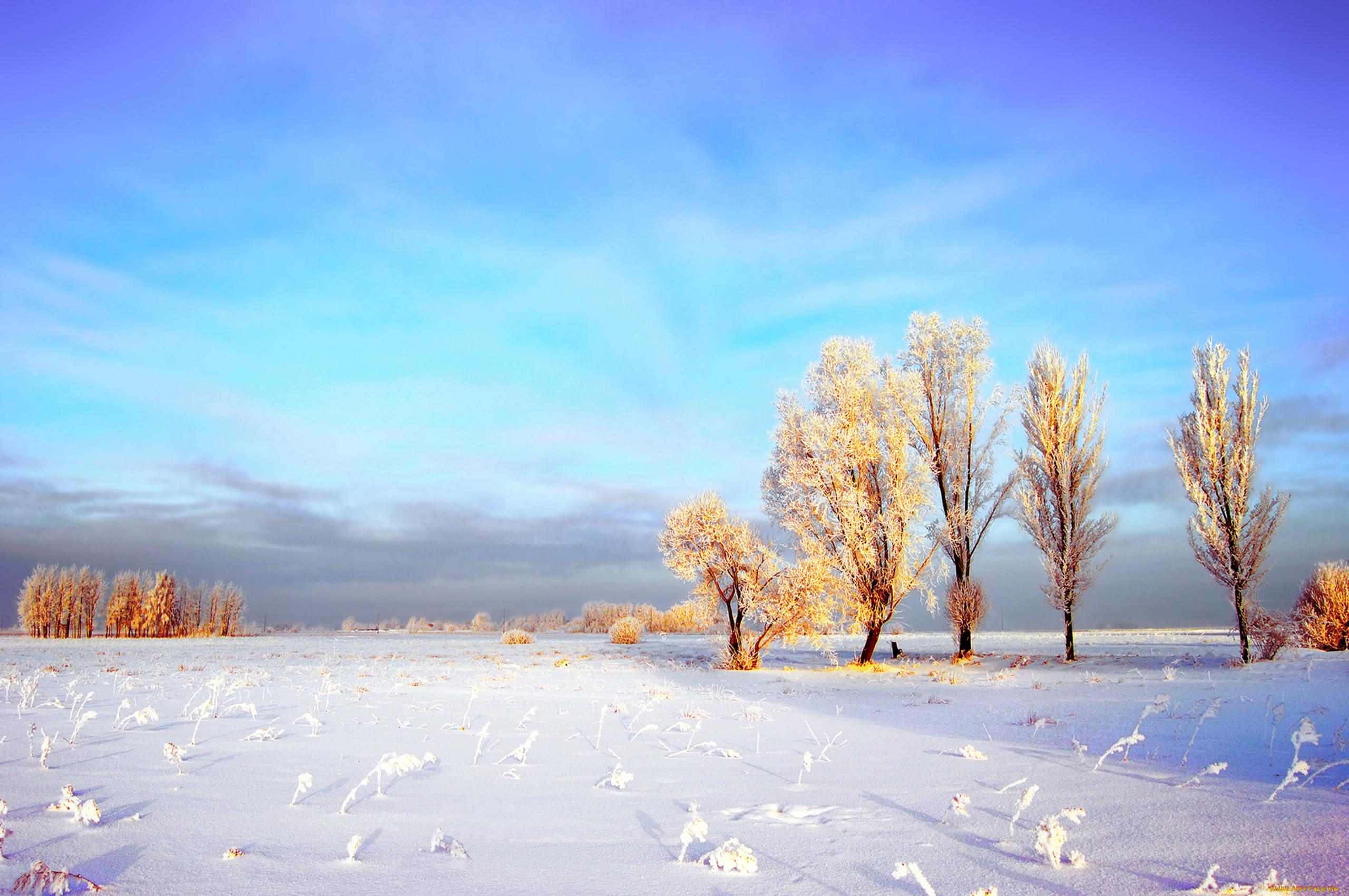 картинки на рабочий стол небо солнце снег